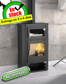 Estufa de leña con horno Serie Artico M-104