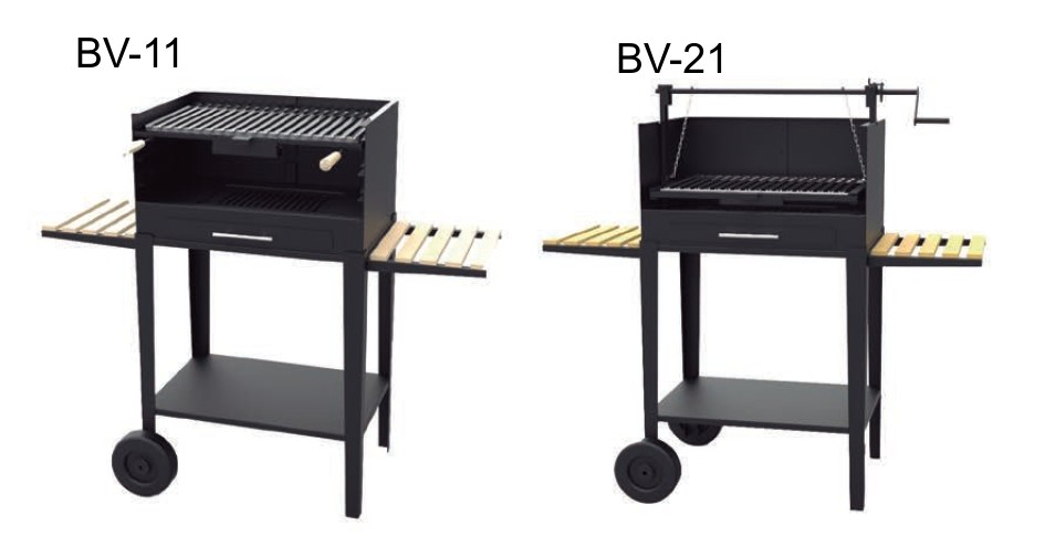 Barbacoa Carbón vegetal y leña