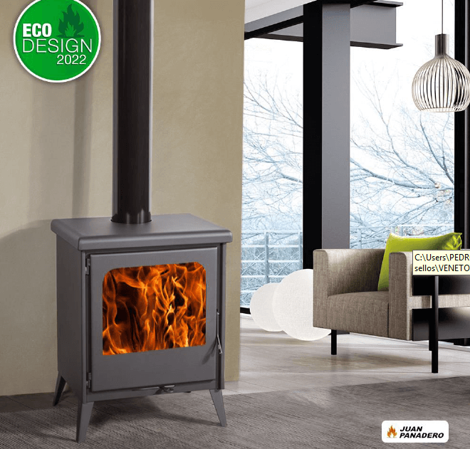ESTUFA Serie Titanium Mod. Veneto  ref. 580 Eco-Design