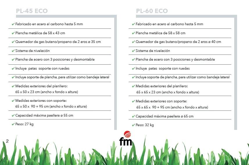 Barbacoa Planllero PL45 Eco