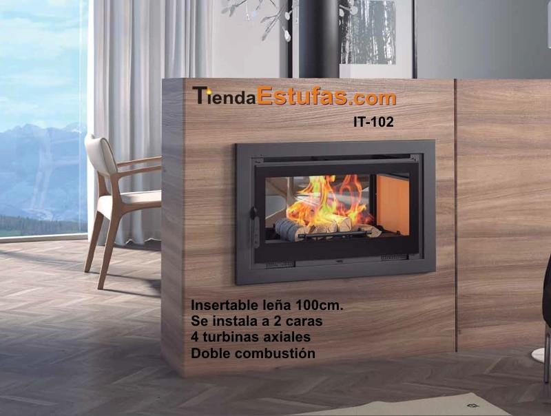 Insertable it102 de le a 100cm 2 caras 4 turbinas axiales - Estufas insertables de lena ...