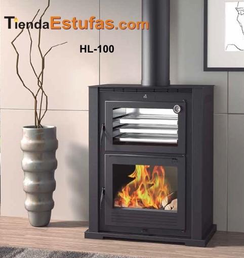 Estufa hl100 horno de le a frontal - Chimeneas para hornos de lena ...