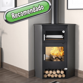 Estufa de leña Rincon con horno Serie Artico M-105-H